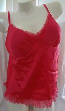 EUC Victoria's Secret Sexy Little Things L pink fuchsia teddy top