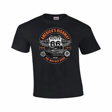 Classic Car Americas Highway Route 66 Mother Road Hot Rod Short Sleeve T-Shirt