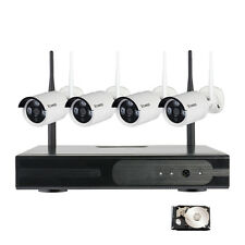 4CH 720P IP Camera Wireless WiFi Complete Home Surveillance Security System Kit