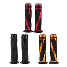 One Pair of DIY Aluminum Handlebar Grips for Motorcycle black/ gold/ red G3SH