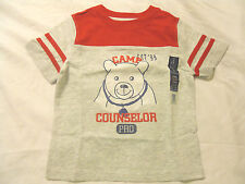 NEW Baby Boys Tee Shirt Faded Glory Graphic Red Gray Short Sleeve Toddlers