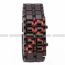 New Lava Fashion Iron Samurai Metal Faceless Bracelet Volcanic LED Wrist Watch