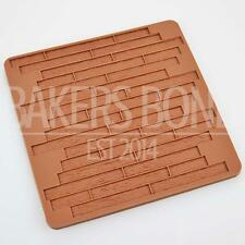 Wood Grain Impression Silicone Mould Mat Cake Emboss Fondant Chocolate Icing