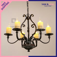 New Rusty Ceiling Fixture Rustic Chandelier LED Pendant Light Dining Room