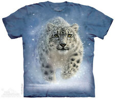Snow Ghost T-Shirt by The Mountain. Snow Leopard Tee Sizes S-5XL NEW