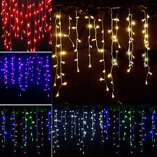 Icicle Hanging Snowing Curtain String Lights Fairy Christmas Indoor Outdoor Lamp