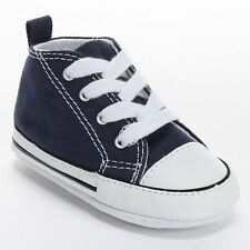 Converse All Star Navy Blue White Baby Crib Infant Shoes Boy & Girl Size 4