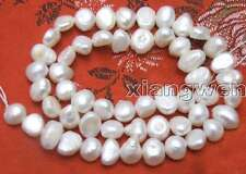 """SALE small 4-5mm  Natural White Freshwater BAROQUE Pearl Loose Bead  14""""-los405"""