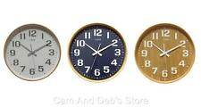 Leni 40cm Wood Wall Clock With Silent Sweep Movement