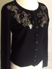 NWT WHITE HOUSE BLACK MARKET Embroidered Applique Long Sleeve Cardigan Sz:XS, S