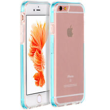 Hybrid Slim Crystal Clear TPU/Plastic Back Cover Case for Apple iPhone 6/6 Plus