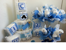 Baby Shower Diaper Cake Centerpiece Table Decoration Gift Set/Boy Girl