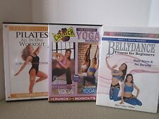 Lot 3-DVD Exercise Full Length Cardio Pilate Yoga Calorie Blaster
