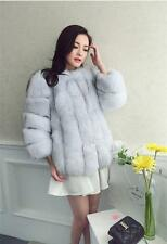 NEW 100% Real Genuine Fox Fur Fox Collar Coat Jacket Outwear Vintage Garment New