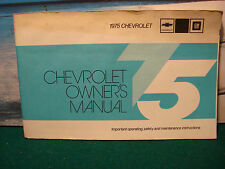 1975 CHEVROLET OWNER'S MANUAL