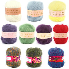 """""""1 Ball Natural Smooth Angola Mohair Cashmere Wool Yarn Skein High Quality 50g"""