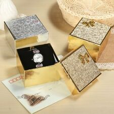 Chic Square Present Gift Case Jewelry Ring Earrings Wrist Watch Box Paper  H77