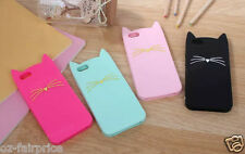 Kate Spade Kitty Cat Silicone Shockproof Soft Case Cover iPhone SE/5/6/S/Plus