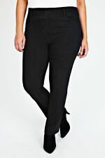 Plus Size Black Pull On Straight Leg Jeans   Size