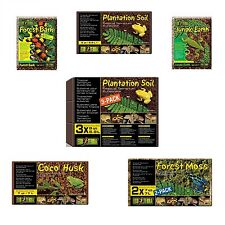 Exo Terra Substrate Forest Bark, Jungle Earth, Plantation Soil, Coco Husk, Moss