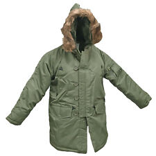 US MILITARY N3B N-3B POLAR SNORKEL PARKA JACKET WITH BROWN FUR - OLIVE GREEN