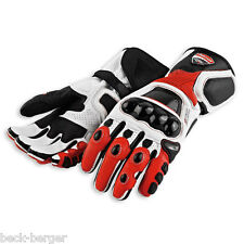 DUCATI Dainese Corse ´ 12 Racing Gloves Leather Gloves black red new