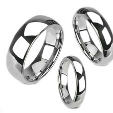 Mirror Polish Tungsten Dome Band Wedding Ring sz 4.5 to 14, 2,3,4,5,6,7,8mm