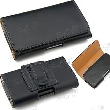 PU Leather Magnetic Flip Belt Clip Hip Case Pouch Holster Fits Nokia, Sony, Moto