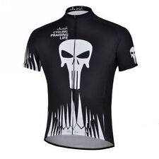 Men Outdoor Cycling Jerseys Black Bike Breathable Bicycle Sports Clothing Wear