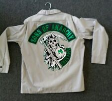 Sons of Anarchy Official licensed Ireland Patch Long Sleeve Work Shirt
