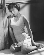 SYLVIA SYMS ON BED SEXY B&W PHOTO OR POSTER