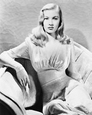 VERONICA LAKE SEXY B&W ON COUCH PHOTO OR POSTER