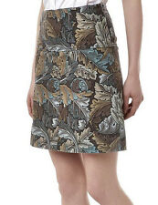 NEW Marc by Marc Jacobs Acanthus Army A-Line Skirt Elm Brown 0 2 6 8 10 $278