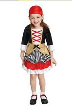 Toddlers Girls LITTLE PIRATE costume Cape Size 2T/3T 4T Dress Up NWT Carribbean