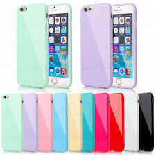 Silicone Rubber Gel Case Cover For iPhone 4 4S 5 5S 5C 6S Plus +Screen Protector