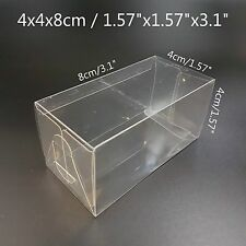 Clear Plastic PVC Boxes Party Favor Wedding Tuck Top Display Box 4x4x8cm