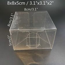 Clear Plastic PVC Boxes Party Favor Wedding Tuck Top Display Box 8x8x5cm