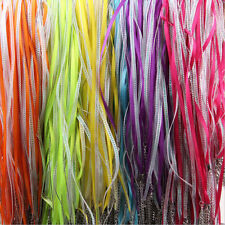 5/20X Colourful Lobster Clasp Organza Ribbon Waxed Durable Cord String Findings