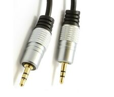 3.5mm Jack to Jack Cable STEREO Audio AUX Auxiliary Lead PC Car GOLD 1M 2M 3M 5M