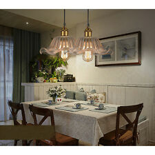 MODERN VINTAGE INDUSTRIAL HANGING GLASS CEILING LAMP Flower SHADE PENDANT LIGHT