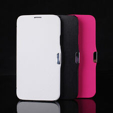 Slim Magnetic Flip PU Leather Fitted Case Cover Pouch For Samsung Galaxy S4 S5