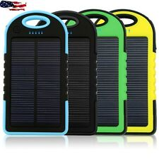 NEW Waterproof 16000mAh Dual USB Portable Solar Charger Power Bank For Phone