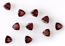 Natural Red Garnet Trillion Cut 4mm-8mm Calibrated Size Red Color Loose Gemstone