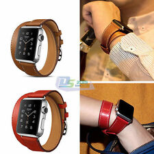 Retro Men Genuine Leather Watch Band Vintage Band Bracelet Strap For iWatch 38mm