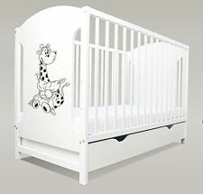 BABY COT MIKI 4 COLOURS COT BED WITH DRAWER / COT