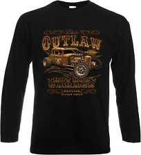 Long sleeve Shirt with US Car Hot Rod ´50Style Pattern Model The Outlaw