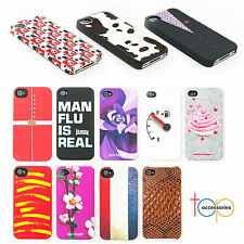 New Hard Back Protective Case Cover for Apple Iphone 4 4s Models 12 Designs