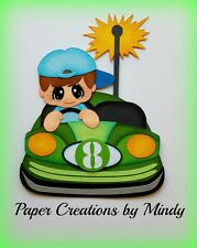 Craftecafe Mindy Summer Bumper cars Fair boy premade paper piecing for scrapbook