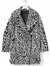 NWT Banana Republic New $328.00 Women Spotted Cocoon Coat Size M, L