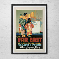 ASIA Travel Poster - Japan Travel Print - Canada Travel Poster Canadian Pacific
